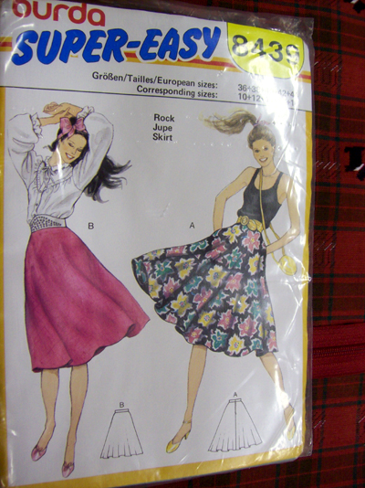 Jute Skirt pattern from Burda