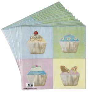 Cup cake serviettes
