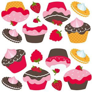 Cup cake stickers