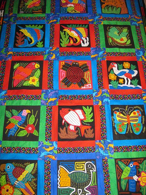 Mola art striking textile art from panama curvalicious for Amazon arts and crafts for kids