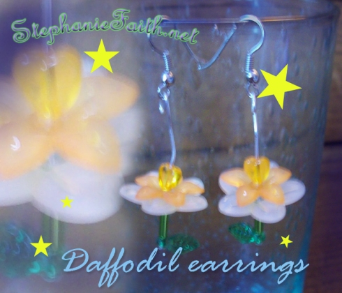 Daffodil Earrings by Stephanie Faith * for sale NOW!
