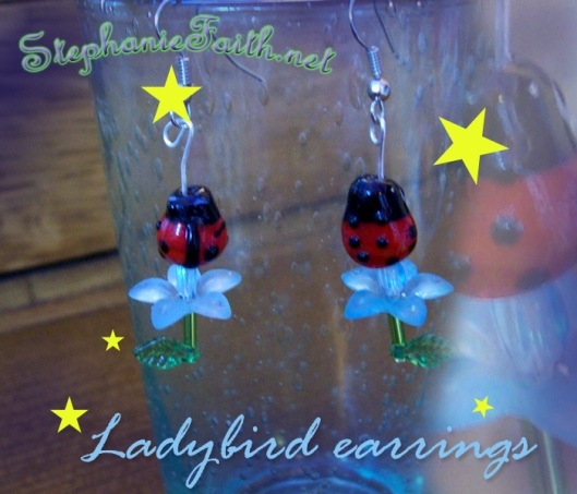 Ladybird Earrings by Stephanie Faith * for sale NOW!