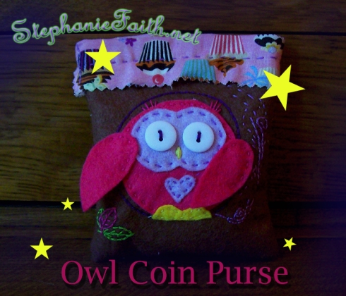 Owl Coin Purse by Stephanie Faith * for sale NOW!