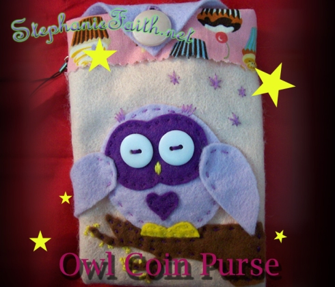 #2 Owl Coin Purse for sale through The Little Log Cabin ebay shop!