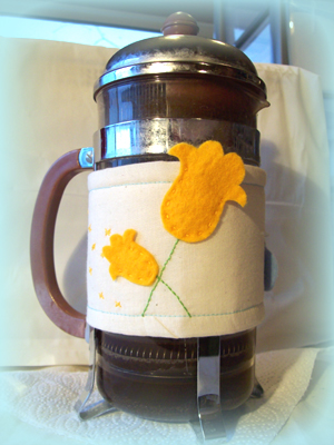 GOLDEN TULIPS - Coffee Pot Couture by Stephanie Faith