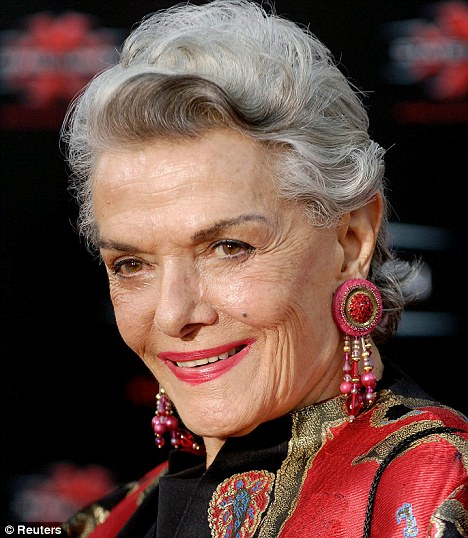 Jane Russell in later life, still a beautiful woman