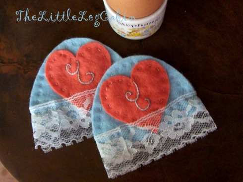 Romantic Egg Cosys by Stephanie Faith.  UK buyers, free postage + packing.  Outside the UK, please enquire.